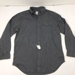 Brooks Brothers Gray Button Front Shirt M